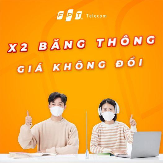 Khuyến mãi Lắp Mạng FPT Hồ Chí Minh  - Gấp đôi băng thông giá không đổi